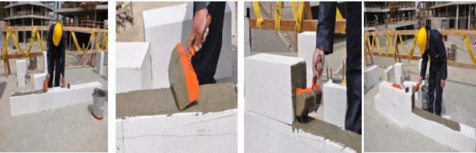 خطوات البناء بالطوب المسامي الخفيف