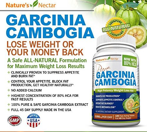 80-HCA-GARCINIA-CAMBOGIA-EXTRACT-PURE-3000mgday-180-Fast-Acting-Tablets-45-Day-Supply-Lose-weight-OR-Your-money-Back-No-Side-Effects-Natural-Appetite-Suppressant-Carb-Blocker-Fat-burner-Weight-Loss-an-0-0